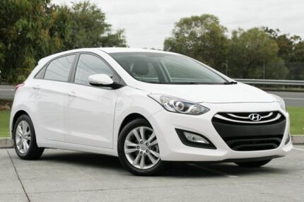 2014 Hyundai i30 GD2 MY14 Trophy White 6 Speed Sports Automatic Hatchback Springwood Logan Area Preview
