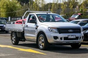 2012 Ford Ranger PX XL 4x2 Silver 6 Speed Manual Cab Chassis Ringwood East Maroondah Area Preview