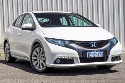 2013 Honda Civic FK MY13 VTi-L White 5 Speed Automatic Hatchback