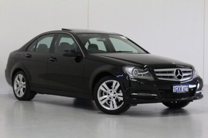 2013 Mercedes-Benz C200 W204 MY13 BE Obsidian Black 7 Speed Automatic G-Tronic Sedan Bentley Canning Area Preview
