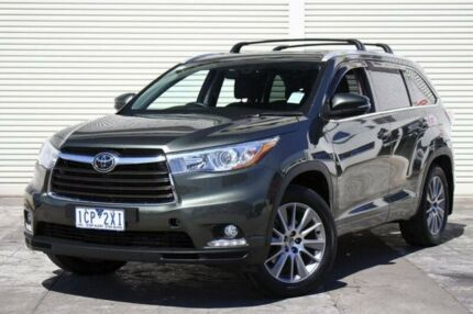 2014 Toyota Kluger GSU55R Grande AWD Green 6 Speed Sports Automatic Wagon