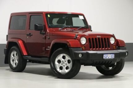 2013 Jeep Wrangler JK MY13 Overland (4x4) Red 5 Speed Automatic Hardtop Bentley Canning Area Preview