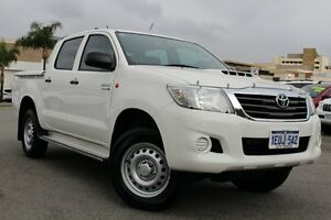 2015 Toyota Hilux KUN26R MY14 SR Double Cab Glacier White 5 Speed Automatic Utility Northbridge Perth City Area Preview