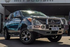 2012 Mazda BT-50 UP0YF1 GT Blue 6 Speed Manual Utility Pearsall Wanneroo Area Preview