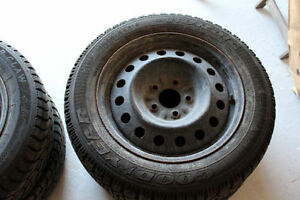 *4 Goodyear Nordic Studded Tires On Rims* 205/60R16*