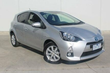 2012 Toyota Prius c NHP10R i-Tech E-CVT Silver 1 Speed Constant Variable Hatchback Berwick Casey Area Preview