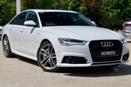 2016 Audi A6 4G MY17 Bi-Turbo Tiptronic quattro White 8 Speed Sports Automatic Sedan Gosford Gosford Area Preview