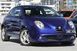 2012 Alfa Romeo Mito MY12 Distinctive TCT Blue 6 Speed Sports Automatic Dual Clutch Hatchback North Melbourne Melbourne City Preview