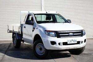 2012 Ford Ranger PX XL 4x2 Hi-Rider White 6 Speed Manual Cab Chassis Seaford Frankston Area Preview