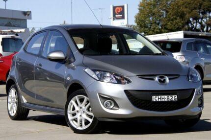 2012 Mazda 2 DE10Y2 MY12 Genki Grey 5 Speed Manual Hatchback Greenacre Bankstown Area Preview