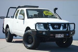 2010 Nissan Navara D40 ST-X King Cab White 6 Speed Manual Utility Chermside Brisbane North East Preview
