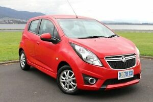 2014 Holden Barina Spark MJ MY15 CD Red 4 Speed Automatic Hatchback Invermay Launceston Area Preview
