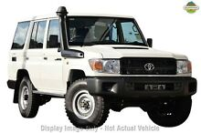 2012 Toyota Landcruiser VDJ76R MY10 Workmate White 5 Speed Manual Wagon Balcatta Stirling Area Preview