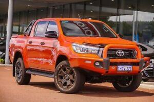 2019 Toyota Hilux GUN126R Rogue Double Cab Orange 6 Speed Sports Automatic Utility