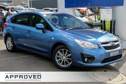 2014 Subaru Impreza G4 MY14 2.0i Lineartronic AWD Luxury Blue 6 Speed Constant Variable Hatchback