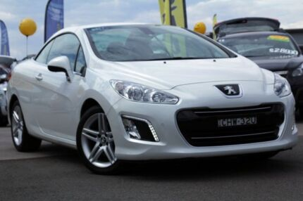 2012 Peugeot 308 T7 MY12 CC Allure White 6 Speed Sports Automatic Convertible