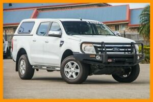 2013 Ford Ranger PX XLT Double Cab White 6 Speed Sports Automatic Utility Hillcrest Logan Area Preview