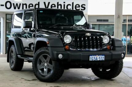2013 Jeep Wrangler JK MY13 Sport (4x4) Black 5 Speed Automatic Softtop Cannington Canning Area Preview