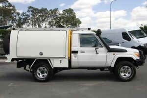2010 Toyota Landcruiser VDJ79R MY10 GX White 5 Speed Manual Cab Chassis Acacia Ridge Brisbane South West Preview