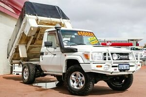 2008 Toyota Landcruiser VDJ79R GXL White 5 Speed Manual Cab Chassis Northbridge Perth City Area Preview