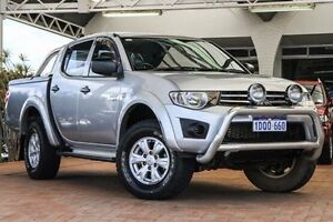 2011 Mitsubishi Triton MN MY11 GL-R Double Cab Silver 5 Speed Manual Utility Willagee Melville Area Preview