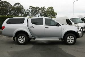 2014 Mitsubishi Triton MN MY15 GLX Double Cab Silver 4 Speed Sports Automatic Utility Acacia Ridge Brisbane South West Preview