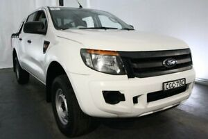 2012 Ford Ranger PX XL Double Cab 4x2 Hi-Rider White 6 Speed Manual Utility Maryville Newcastle Area Preview