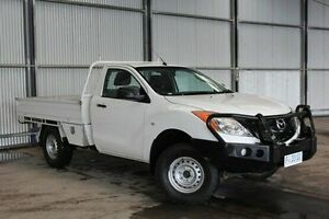 2013 Mazda BT-50 UP0YF1 XT White 6 Speed Manual Cab Chassis Invermay Launceston Area Preview