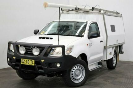 2013 Toyota Hilux KUN26R MY14 SR White 5 Speed Manual Cab Chassis Seven Hills Blacktown Area Preview