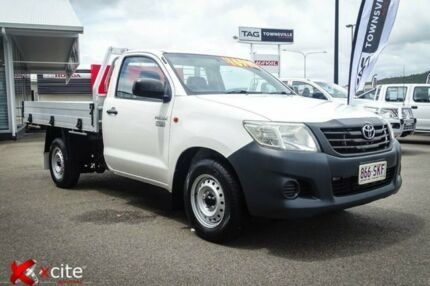 2012 Toyota Hilux TGN16R MY12 Workmate 4x2 White 5 Speed Manual Cab Chassis Garbutt Townsville City Preview