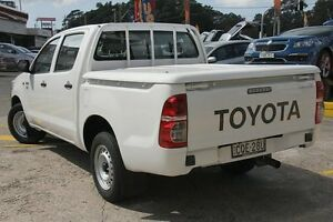 2012 Toyota Hilux TGN16R MY12 Workmate White 4 Speed Automatic Dual Cab Pick-up Wolli Creek Rockdale Area Preview