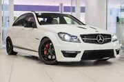 2013 Mercedes-Benz C63 W204 MY13 AMG SPEEDSHIFT MCT Edition 507 White 7 Speed Sports Automatic Sedan Nedlands Nedlands Area Preview