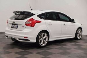 2013 Ford Focus LW MKII ST White 6 Speed Manual Hatchback Edgewater Joondalup Area Preview