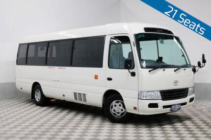 2013 Toyota Coaster XZB50R 07 Upgrade Deluxe (LWB) White Bus