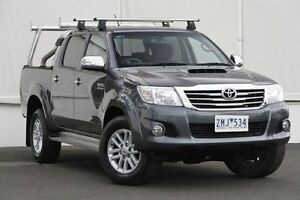 2012 Toyota Hilux KUN26R MY12 SR5 Double Cab Dark Grey Mica 4 Speed Automatic Utility Upper Ferntree Gully Knox Area Preview