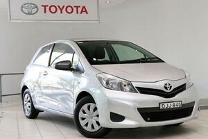 2014 Toyota Yaris NCP130R YR Silver Pearl 4 Speed Automatic Hatchback Waterloo Inner Sydney Preview