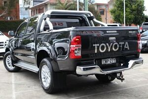 2013 Toyota Hilux KUN26R MY12 SR5 (4x4) Black 4 Speed Automatic Dual Cab Pick-up Mosman Mosman Area Preview