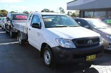 2010 Toyota Hilux TGN16R 09 Upgrade Workmate White 5 Speed Manual Cab Chassis South Maitland Maitland Area Preview