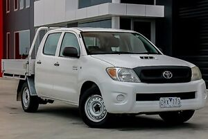 2008 Toyota Hilux KUN16R MY09 SR White 5 Speed Manual Utility Pakenham Cardinia Area Preview