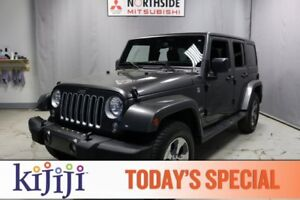 2017 Jeep Wrangler Unlimited 4WD  SAHARA Accident Free,  A/C,