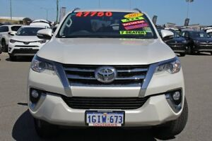 2017 Toyota Fortuner GUN156R GXL Crystal Pearl 6 Speed Automatic Wagon