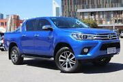 2016 Toyota Hilux GUN126R SR5 (4x4) Nebula Blue 6 Speed Automatic Dual Cab Utility Northbridge Perth City Area Preview