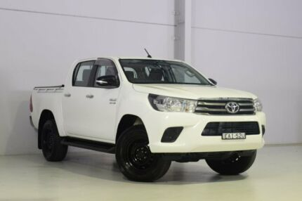2015 Toyota Hilux GUN126R SR Double Cab White 6 Speed Sports Automatic Utility Wyong Wyong Area Preview