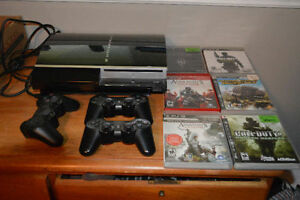 Playstation, 3controllers, Skyrim, Call of Duty, Assasin's Creed