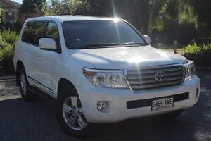 2013 Toyota Landcruiser VDJ200R MY13 Sahara White 6 Speed Sports Automatic Wagon Hawthorn Mitcham Area Preview