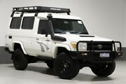 2010 Toyota Landcruiser VDJ78R 09 Upgrade Workmate (4x4) 11 Seat White 5 Speed Manual TroopCarrier Bentley Canning Area Preview