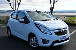 2014 Holden Barina Spark MJ MY15 CD White 4 Speed Automatic Hatchback Invermay Launceston Area Preview