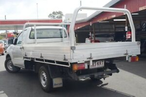 2007 Toyota Hilux TGN16R MY07 Workmate Silver 5 Speed Manual Cab Chassis