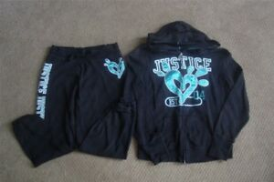GIRLS JUSTICE SIZE 12 JOGGER SUITS