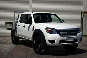 2011 Ford Ranger PK XL Crew Cab Hi-Rider White 5 Speed Automatic Cab Chassis Seaford Frankston Area Preview